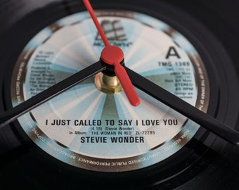 "Stevie Wonder - 'I Just Called To Say I Love You' 7"" Record Clock"