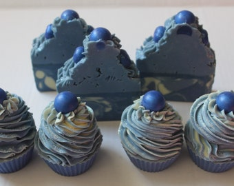 BLUEBERRY HILL SOAP / Blueberry cupcake Soap / Blueberry Bar Soap / All Natural Artisan Soap