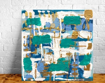 10x10 Abstract Painting on Heavy Gallery Wrapped Canvas