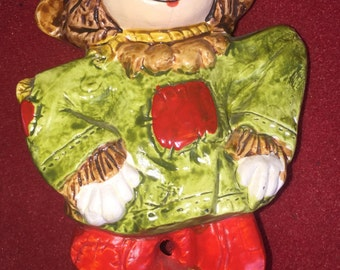 Vintage Ceramic Fall Halloween Seasonal scarecow figurine JAPAN