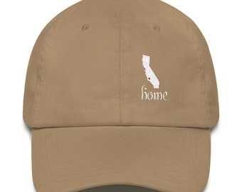 I Love California  Home Sweet Home Embroidered Hat