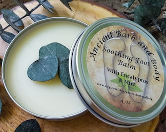 Natural Soothing Foot Balm / Cooling Foot Balm