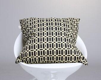 Geometric Pillow Cover, Black Yellow Pillow, Decorative Pillow, Throw Pillow, Contemporary Pillow, Accent Pillow Cover, Modern Pillow