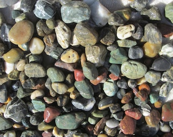 ALASKA AGATES, 1 lb. Tumble Lapidary Cabbing Rough, Soldotna, Nikiski Beach, AK, Alaska, Kenai Peninsula, Cook Inlet Jaspers, Agates