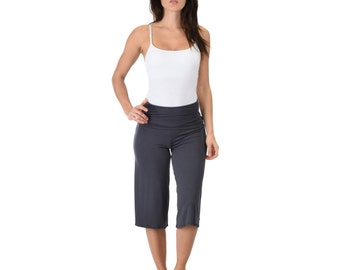 Lounge Fold Over Gaucho Capri Pants