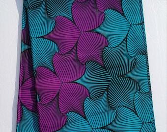 Teal and Purple Ankara Fabric; African Clothing; African Fabric; African Fabric in yard; African Headwrap;African print fabric ;Ankara