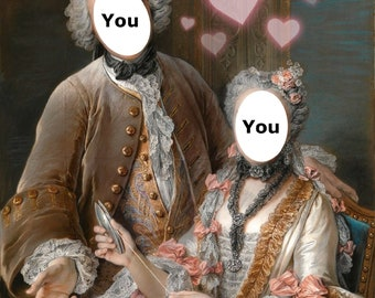 Custom portrait couple historical