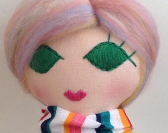Heirloom Doll. Cloth Doll.