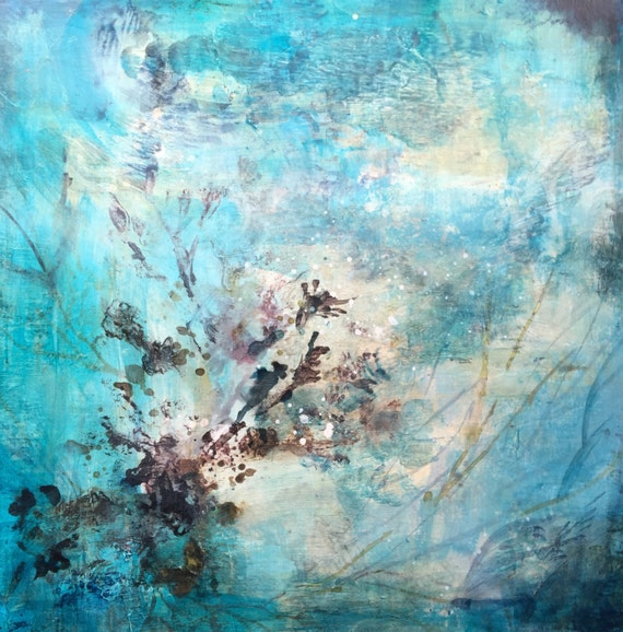 Abstract Oil painting print Sea fan
