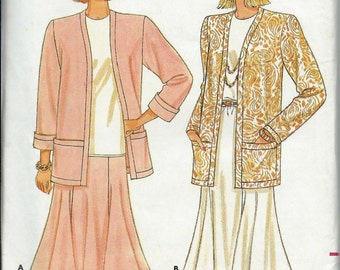 Butterick 4432 Misses Jacket, Skirt and Top Pattern, Fast & Easy Size P-S-M Uncut