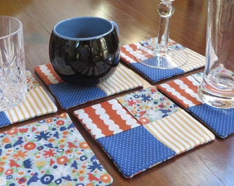 Fabric Coasters, Set of 6