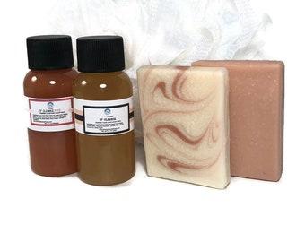 V Cleanse All Natural Feminine Soap Bar and Body Wash with Apple Cider Vinegar Sampler