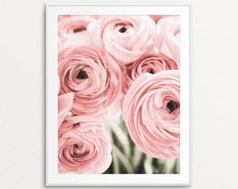 Floral Photography, Pink Ranunculus, Ranunculus Photo, Floral Print, Home Decor, Dreamy Decor, Floral Wall Art, Floral Print Art