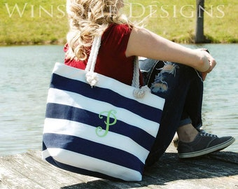 Monogram-Monogrammed-Monogram Tote-Bridesmaid Tote-Bridesmaid Tote Bag-Custom Tote Bag-Canvas Tote-Beach Bag-Canvas Bag-Navy-Tote Bags-Totes