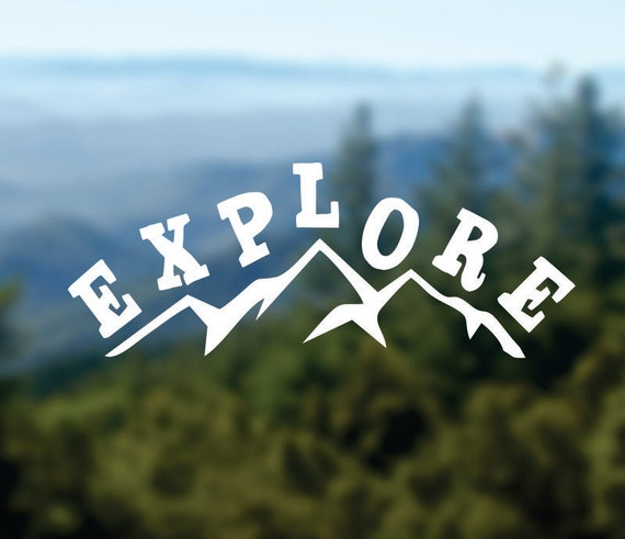 Explore decal mountains vinyl sticker car window decal laptop decal water bottle decal phone decal bumper sticker adventure decal from