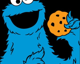 cookie monster art etsy rh etsy com cookie monster clipart cookie monster clipart png