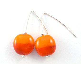 Hot summer afternoon glass bead earrings