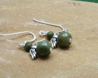 Connemara Marble Angel Earrings