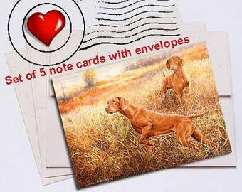InvestigatorsVizsla Note Card Set