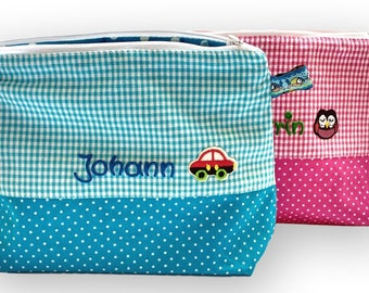 Personalized washing bag Children's culture bag with name