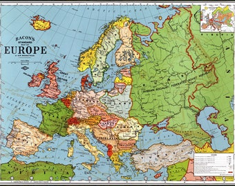 Poster, Many Sizes Available; Map Of Europe 1923