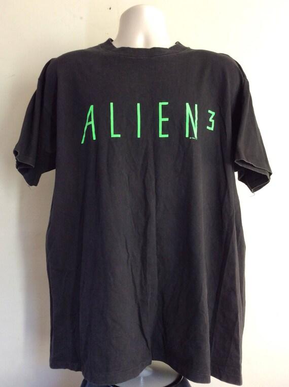 Vtg 1992 Alien 3 T-Shirt Black XL 90s Sci Fi Movie Promo David Fincher bl3EtkLJ
