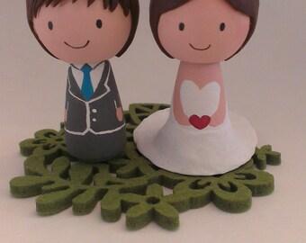 Custom Kokeshi Doll Wedding Cake Topper