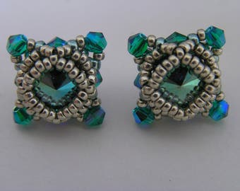 Pattern/Tutorial in English for the earring studs : Deco