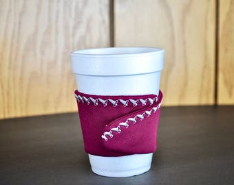 Embroidered coffee cup sleeve Cloth cup cozy Custom coffee sleeve Personalized coffee cup cozy Embroidered cup cozy Cup caddy Teacher gift