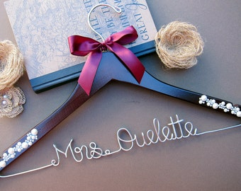 SALE Personalized Wedding Hanger / Bridal Hanger / Bridesmaid Gift / Bridal Shower & Party Gift / Graduation / White Coat Ceremony / MD gift