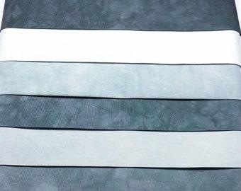 SHADES OF GRAY [100]  Hand Dyed Tonal Fabrics/6 Pack