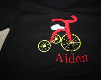 Boys tee shirt tricycle tshirt