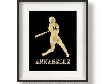 Personalized Softball Gifts - Softball Team Gifts - Senior Softball Gifts - Softball Wall Art - Softball Room Decor - Girls Softball