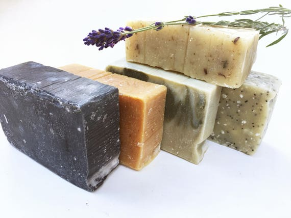 4 Bars Organic Soap - 4 Handmade Soaps