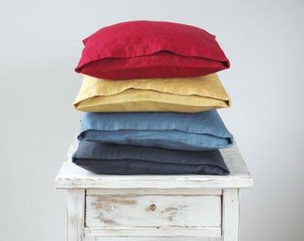 Linen DECORATIVE PILLOW CASE - Linen Cushion Covers - Linen Home Decor - Red Linen Cushion Cover - Linen Pillow Case