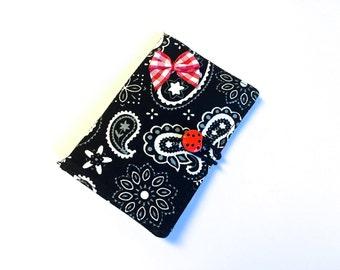 Tea Bag Caddy, Tea Bag Wallet, Black Bandana, Business Card Holder, Secret Pal Gift, Mothers Day Gift, by 8th Day