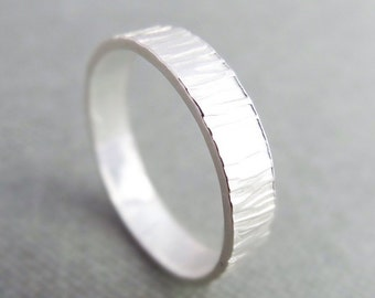 Sterling Silver textured ring, sterling silver band ring, silver hammered ring, silver statement ring