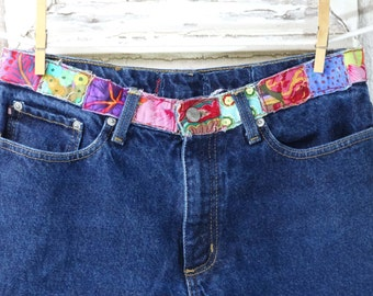 Ralph Lauren Upcycled Hippy Jeans Upcycled Clothing Patched Jeans Boho Chic