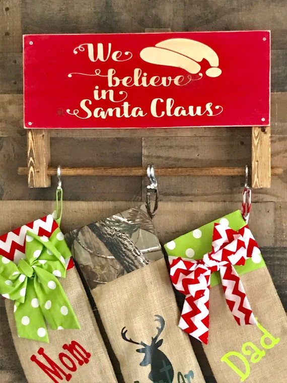 Country Christmas Decor, Stocking Holder, Personalized Stocking Hooks, Rustic Country Christmas, Country Decor, Rustic Christmas Decor