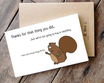 Funny Printable Thank You Card - Back off!