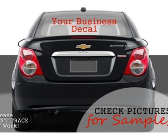 Business Car Decal - Hobby Car Decal - Fundraiser Car Decal - Business Advertising - Custom Car Decals - Vinyl Decal - Window Decal