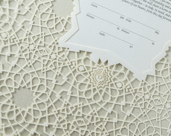MOROCCAN papercut ketubah / wedding vows