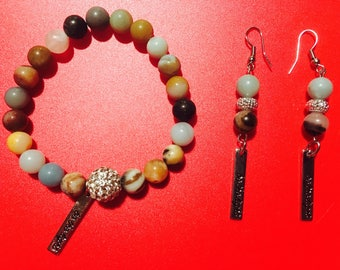 Be the light bracelet and earring set