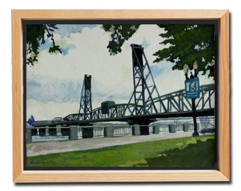 Hawthorne Bridge from Waterfront Park, Portland, Oregon