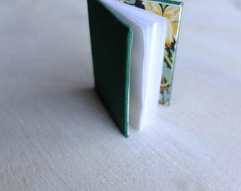 Miniature hand made blank book , mini book, book arts, notebook.