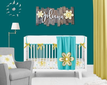 Personalized Name for Above Crib//Wooden Name Sign//Nursery Decor Wood//Nursery Letters//Connected Letters//Personalized Gifts//Baby shower