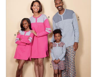 Butterick Pattern B6531 Misses'/Men's/Childrens'/Boys'/Girls' Top, Tunic, Shorts and Pants