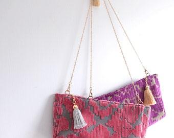 Christmas Heart shoulder bag. winter season fuzzy woman clutch. style143. Ready to ship