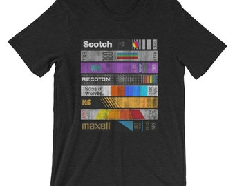 VHS T-Shirt Scotch TDK Recoton Maxell Cassette Kodak 80s Video Tapes Videotapes Tapehead