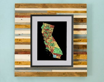 California County Map - Hand Drawing